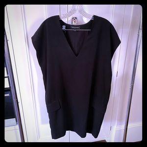 Black straight fit dress